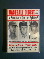 1968 Baseball Digest May Rod Carew Excellent to Mint