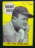 1946 Baseball Digest August Joe Cronin Very Good