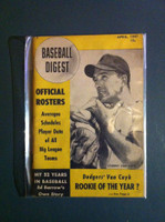1947 Baseball Digest April Johnny Van Cuyk Excellent