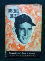 1947 Baseball Digest September Ewell Blackwell Poor