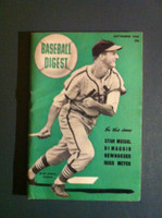 1948 Baseball Digest September Stan Musial Excellent