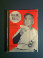 1949 Baseball Digest August Frankie Frisch Excellent