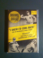 1949 Baseball Digest September Vic Raschi Excellent