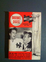 1949 Baseball Digest November Tommy Henrich - Allie Reynolds Excellent