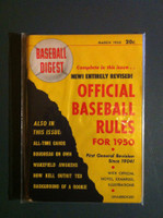 1950 Baseball Digest March 50 Baseball Rules Excellent