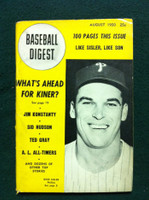 1950 Baseball Digest August Dick Sisler Very Good