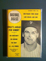 1950 Baseball Digest August Dick Sisler Excellent
