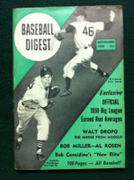 1950 Baseball Digest September Art Houtteman Tigers - Larry Jansen Giants Very Good