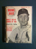 1952 Baseball Digest February Eddie Stanky Excellent