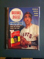 1952 Baseball Digest September Sal Maglie Very Good to Excellent