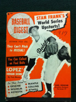 1952 Baseball Digest October Carl Erskine Very Good