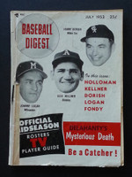 1953 Baseball Digest July Dorish - Kellner - Logan Fair to Poor