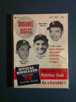 1953 Baseball Digest July Dorish - Kellner - Logan Near-Mint
