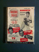 1953 Baseball Digest August Robin Roberts Near-Mint