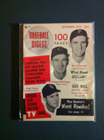 1953 Baseball Digest September O'Connell - Strickland - Trucks Near-Mint