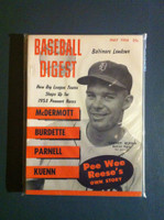 1954 Baseball Digest May Harvey Kuenn Near-Mint Plus