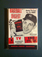 1954 Baseball Digest June Eddie Mathews Near-Mint