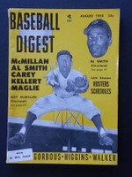 1955 Baseball Digest August Roy McMillan - Al Smith Very Good