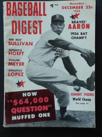 1955 Baseball Digest November Johnny Podres Excellent to Mint