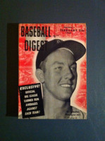 1956 Baseball Digest February Al Kaline Very Good