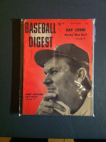 1956 Baseball Digest May Mike Higgins Very Good
