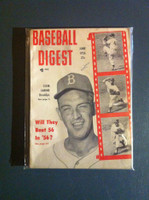 1956 Baseball Digest June Clem Labine Very Good