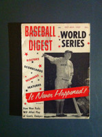1957 Baseball Digest October Babe Ruth Excellent