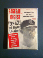 1958 Baseball Digest February Lindy McDaniel Excellent to Mint