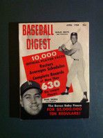 1958 Baseball Digest April Willie Mays - Duke Snider Very Good to Excellent