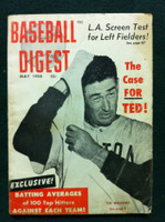 1958 Baseball Digest May Ted Williams Fair to Poor