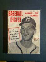 1958 Baseball Digest July Warren Spahn Very Good to Excellent