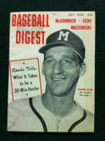 1958 Baseball Digest July Warren Spahn Excellent