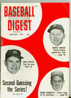 1959 Baseball Digest January Jackie Jensen - Robin Roberts - Bob Turley Very Good to Excellent