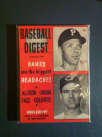 1959 Baseball Digest September Rocky Colavito Indians - Roy Face Pirates Near-Mint