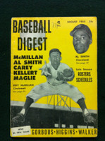 1955 Baseball Digest August Roy McMillan / Al Smith Very Good