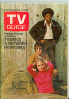 1970 TV Guide Feb 28 Cast of the Mod Squad Northen Indiana edition Excellent - No Mailing Label  [Scuffing and wear on cover; contents fine]