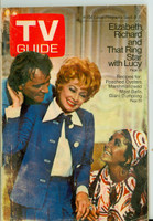 1970 TV Guide Sep 5 Lucille Ball with Elizabeth Taylor and Richard Burton Iowa edition Good to Very Good - No Mailing Label  [Scuffing and discoloration on cover, contents fine]