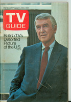 1971 TV Guide October 2 Jimmy Stewart Western Illinois edition Very Good to Excellent - No Mailing Label  [Sl loose at the staples, wear on cover, staple rust; contents fine]