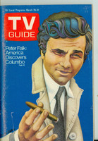 1972 TV Guide Mar 25 Peter Falk as Columbo (First Cover) St. Louis edition Very Good to Excellent - No Mailing Label  [Lt wear and toning on cover; contents fine]