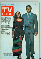 1973 TV Guide Feb 17 McMillan and Wife (First Cover) North Texas edition Very Good to Excellent - No Mailing Label  [Lt wear and toning on cover; contents fine]
