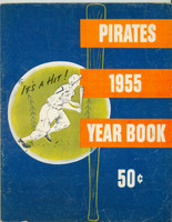 1955 Pirates Yearbook Roberto Clemente Rookie Very Good to Excellent Minor cover wear and creasing; Clemente page very clean