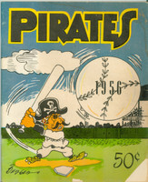 1956 Pirates Yearbook Very Good Faint moisture stains on covers and some Writing on both covers