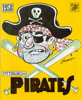 1958 Pirates Yearbook Near-Mint Lt cover wear