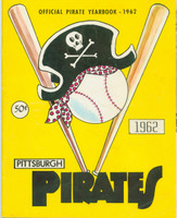 1962 Pirates Yearbook Excellent Lt cover wear