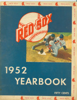 1952 Red Sox Yearbook Very Good to Excellent Lt wear and toning on cover, ow clean