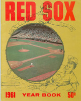 1961 Red Sox Yearbook Carl Yastrzemski Rookie Season Very Good to Excellent Minor creasing on cover, contents fine