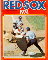 1974 Red Sox Yearbook Near-Mint Light wear on cover, ow clean