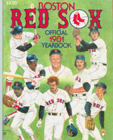 1981 Red Sox Yearbook Near-Mint Light wear on cover, ow clean