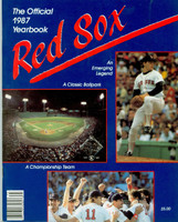 1987 Red Sox Yearbook Near-Mint Light wear on cover, ow clean