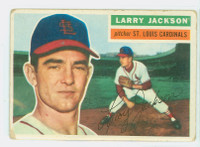 1956 Topps Baseball 119 Larry Jackson St. Louis Cardinals Fair to Good White Back